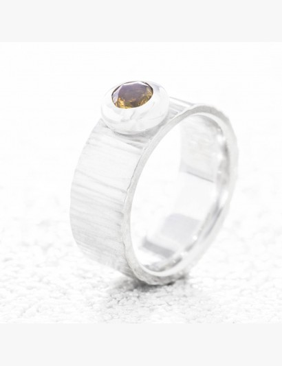 Rillen-Ring mit Citrin