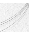 5-reihiges silberfarbenes Stahlcollier