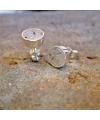 funkelnde Ohrringe mit kristallisiertem Achat