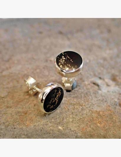 Ohrringe in schwarz-gold - Beispielbilder, da jedes Stück ein Unikat ist und die Steine immer unterschiedlich sind