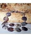 Ausgefallene Edelstein-Kette mit Botswana Achat