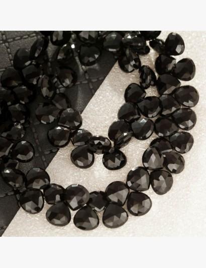 Schwarze Edelstein-Kette mit facettierten Onyx-Pampeln