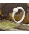 Silber-Spannring mit Akoya-Perle