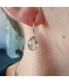 Gelbgold-Ohrringe mit Rutilquarz