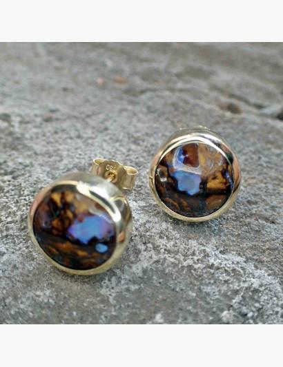 Ohrringe mit Matrix-Opalen