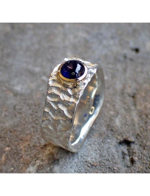 Knautschi-Ring mit Saphir