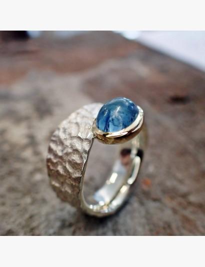 Knautschi-Ring mit Aquamarin