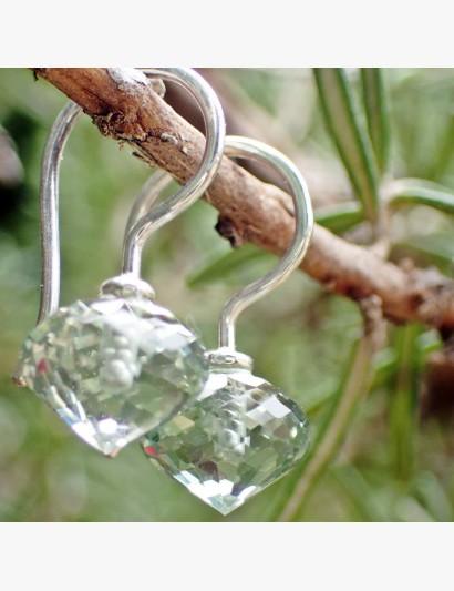 Ohrhänger aus Silber mit Prasiolith-Zwiebel