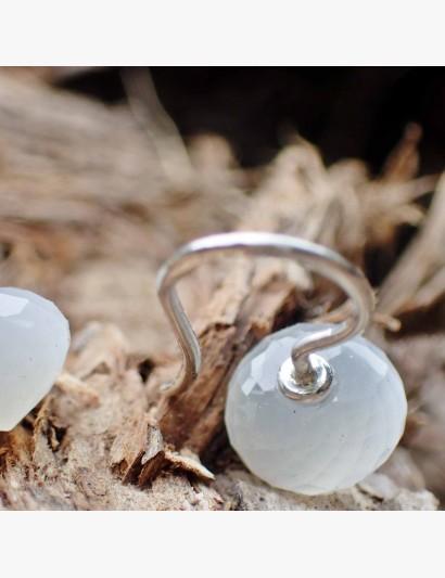 Ohrhänger aus Silber mit Mondstein-Zwiebel