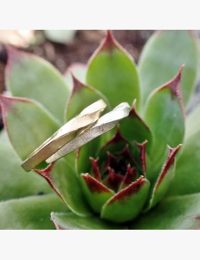 Kombinationsmöglichkeit ... Möbiusring in Gold und Silber