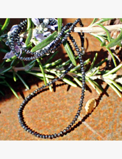 schwarze Diamant-Kette