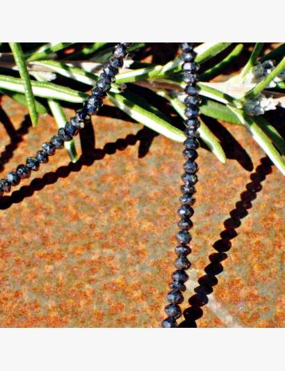 schwarze Diamant-Kette Detail