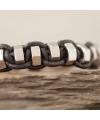 Armband mit Edelstahlmuttern - Makrameetechnik