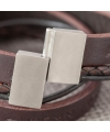 Leder-Armband mit gestempeltem Spruch