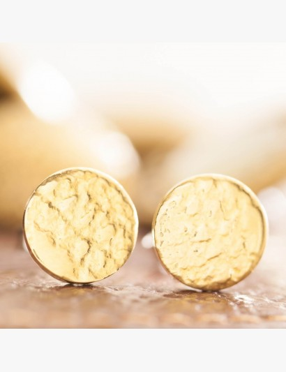 Spitzen-Ohrringe mit Goldauflage