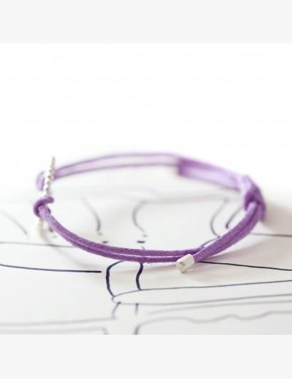 Makramee-Armband mit Kugelring