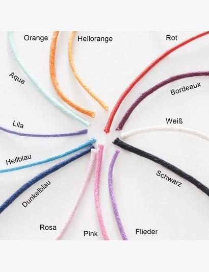 Farbübersicht der Baumwollbänder